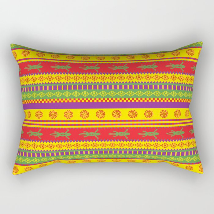 gecko mexican pattern Rectangular Pillow
