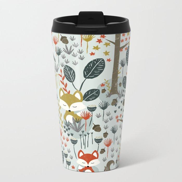 Rustic  Woodland Animals Travel Mug