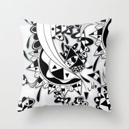 white Triangle Throw Pillow