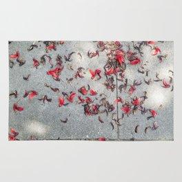 Red Petals Rug