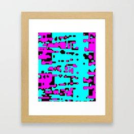jitter, violet and blue 7 Framed Art Print