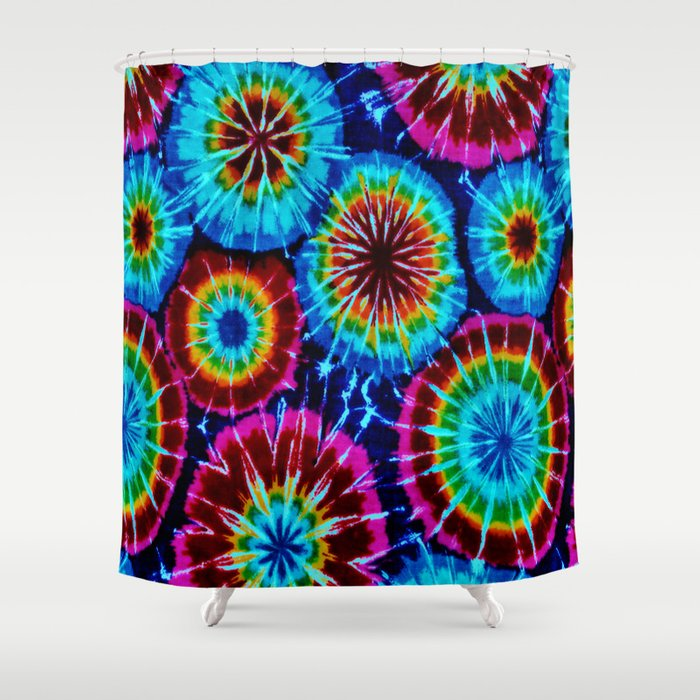 Tie Dye Shower Curtain By Gypsykisspotography