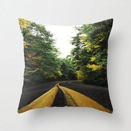 autumn in new england Throw Pillow
