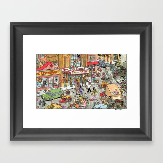 Zombies at The Riviera Framed Art Print