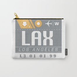 LAX International Travel Ticket Carry-All Pouch