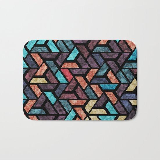 Seamless Colorful Geometric Pattern XV Bath Mat