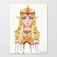legend of zelda Canvas Prints featuring Zelda by Kai Texel