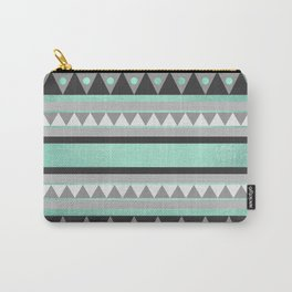 Turquoise Tribal Carry-All Pouch