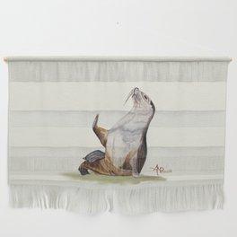 Sea Lion Watercolor Wall Hanging