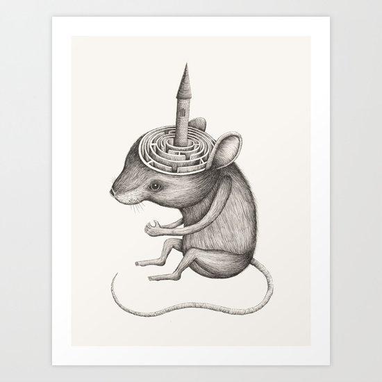 'Lost In My Mind' Art Print