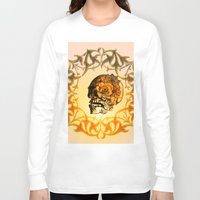sugar skull Long Sleeve T-shirts featuring Sugar skull by nicky2342