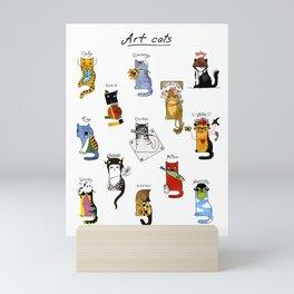 Legendary Art cats - Great artists, great painters. Mini Art Print