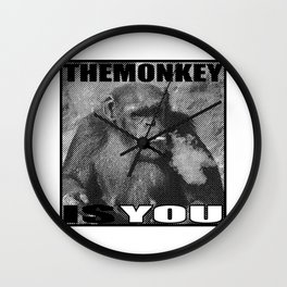 The Monkey Is You Wall Clock