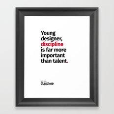 Young Designer — Advice #10 Framed Art Print