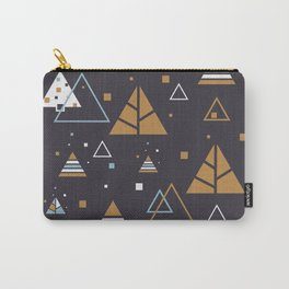 Polar Winter Tree Abstract Pattern Carry-All Pouch