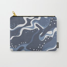 Blue camouflage pattern Carry-All Pouch