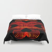 valentines Duvet Covers featuring Valentines - Lucky in Love by Khana's Web