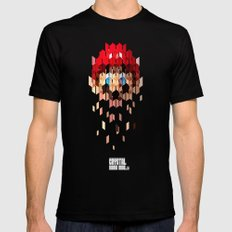 Crystal Mario Black MEDIUM Mens Fitted Tee