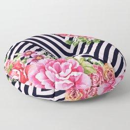 flowers geometric Floor Pillow