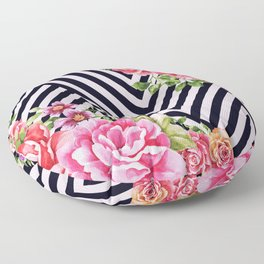 flowers geometric Floor Pillow