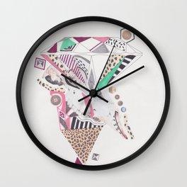 Leopard Diamond Paranoia Wall Clock
