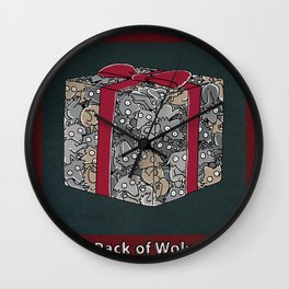 A PACK OF WOLVES Wall Clock