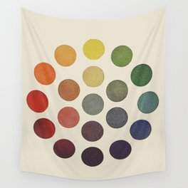 'Parsons' Spectrum Color Chart' 1912, Remake Wall Tapestry