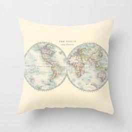 Hemispheres Throw Pillow