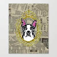 terrier Canvas Prints featuring Terrier by Shelby Fry Designs
