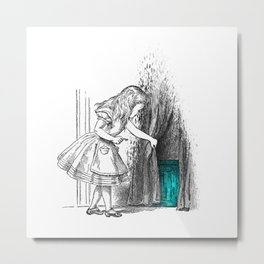 Follow The White Rabbit Metal Print