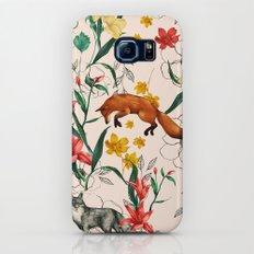 Floral Fox Slim Case Galaxy S7
