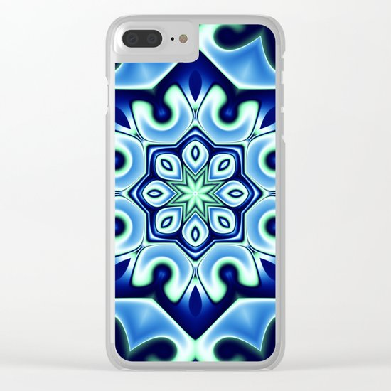 Ice flower Clear iPhone Case