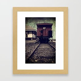 Other side of the tracks Framed Art Print