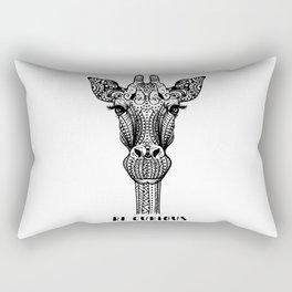 Giraffe Illustration Rectangular Pillow