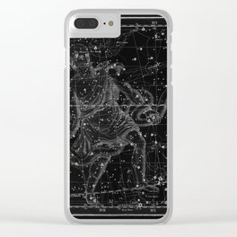 Celestial Map print from 1822 Clear iPhone Case