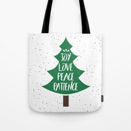 Tree of Christmas Present Tote Bag