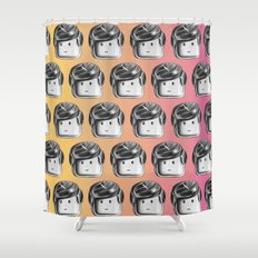 Minifigure Pattern - Hot Shower Curtain