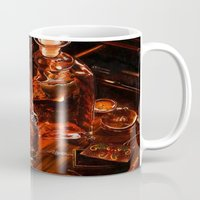 whiskey Mugs featuring Whiskey by Esra Meral Demircan