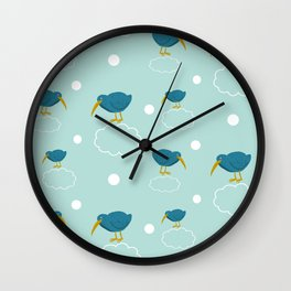 Kiwi birds on the clouds Wall Clock