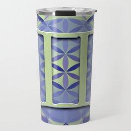 Flower of Life GEMINI Astrology Design Travel Mug