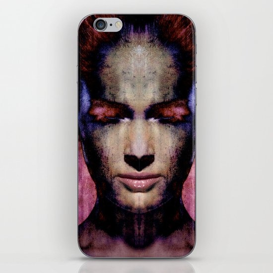 MIND GAME - Woman's Face iPhone & iPod Skin