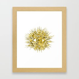 GOLDEN VISIONARY - ALL-SEEING EYE Framed Art Print