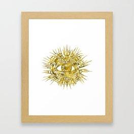 GOLDEN VISIONARY - ALL-SEEING EYE Framed Art Print