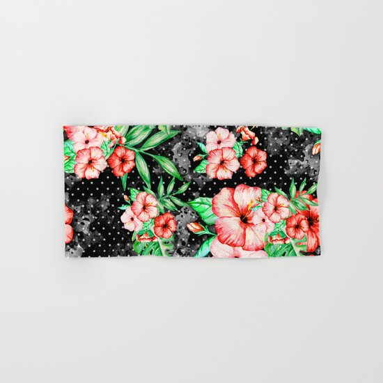 Colorful Hibiscus Hand & Bath Towel