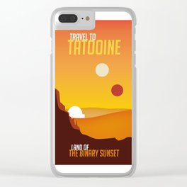 Travel to Tatooine Clear iPhone Case