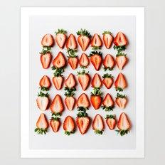 Strawberries 1 Art Print