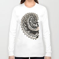 fibonacci Long Sleeve T-shirts featuring Fibonacci Swirl  by Vixxen