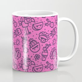 Frida Dreams Mexican Pink&Black Coffee Mug