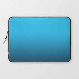 Simply fresh teal blue color gradient - Mix and Match with Simplicity of Life Laptop Sleeve