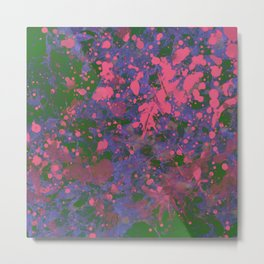 Emotional Pink - Abstract splatter painting Metal Print